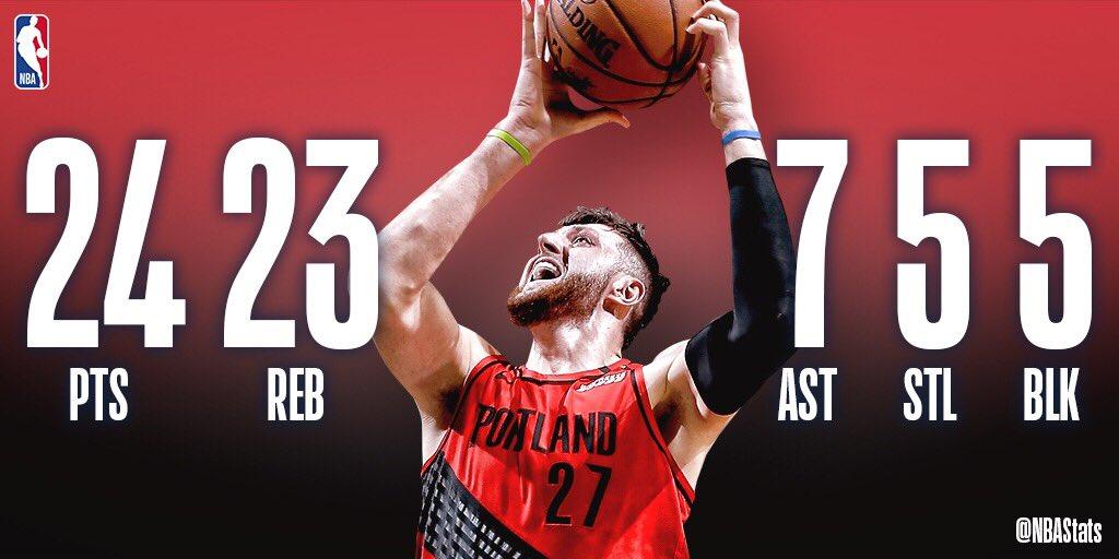 NBA官方评选今日最佳数据:努尔基奇5x5 双20成功当选