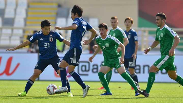 亚洲杯:大迫勇也双响堂安律破门,日本3-2土库曼斯坦