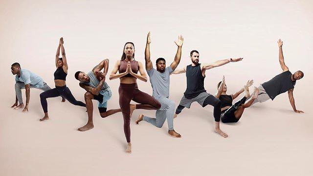 弗莱和乐福一起为瑜伽装备拍摄广告