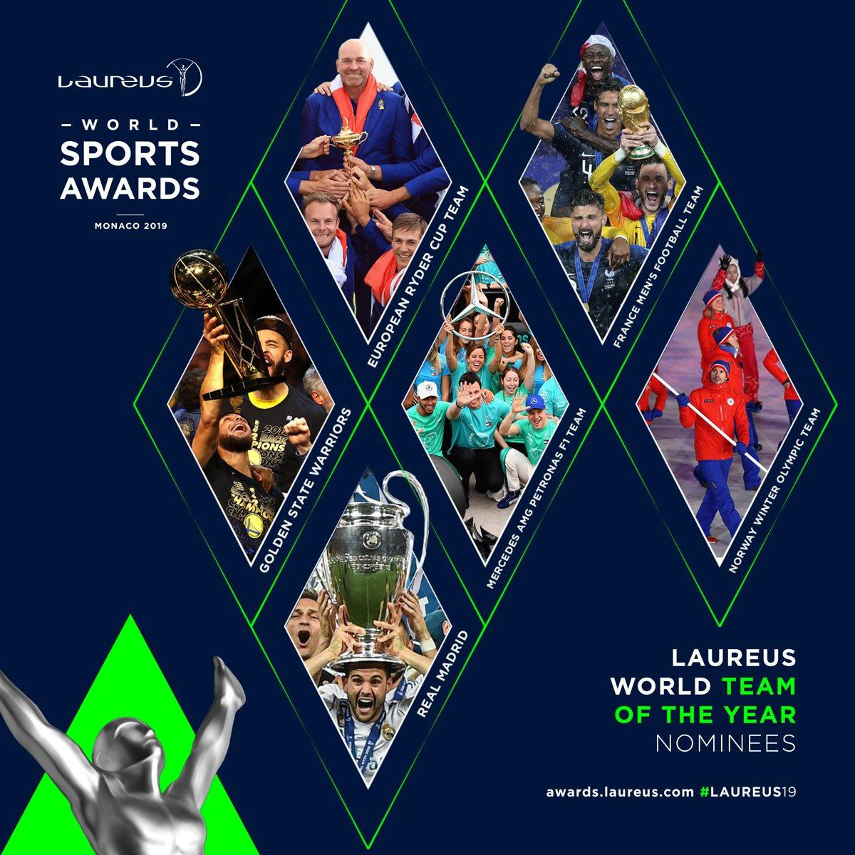 2019年劳伦斯世界体育奖团队提名:法国队和皇马入选