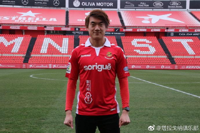 孙怡朋已在西班牙第6级别完成注册,将随西乙队训练