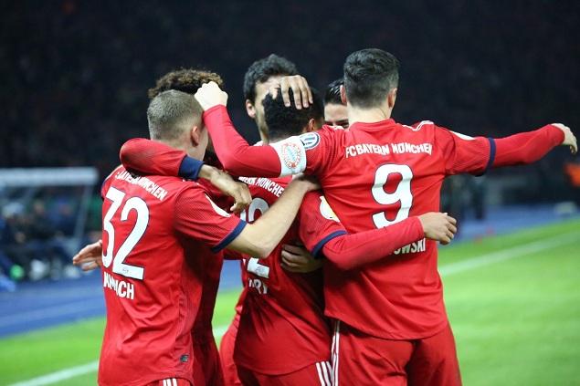 德国杯:格纳布里双响科曼破门,拜仁3-2逆转柏林赫塔
