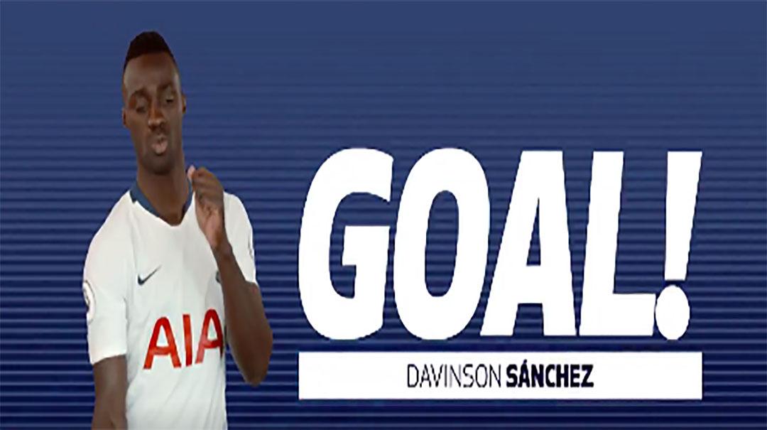 GIF:桑切斯鱼跃头球破门,热刺1-0领先