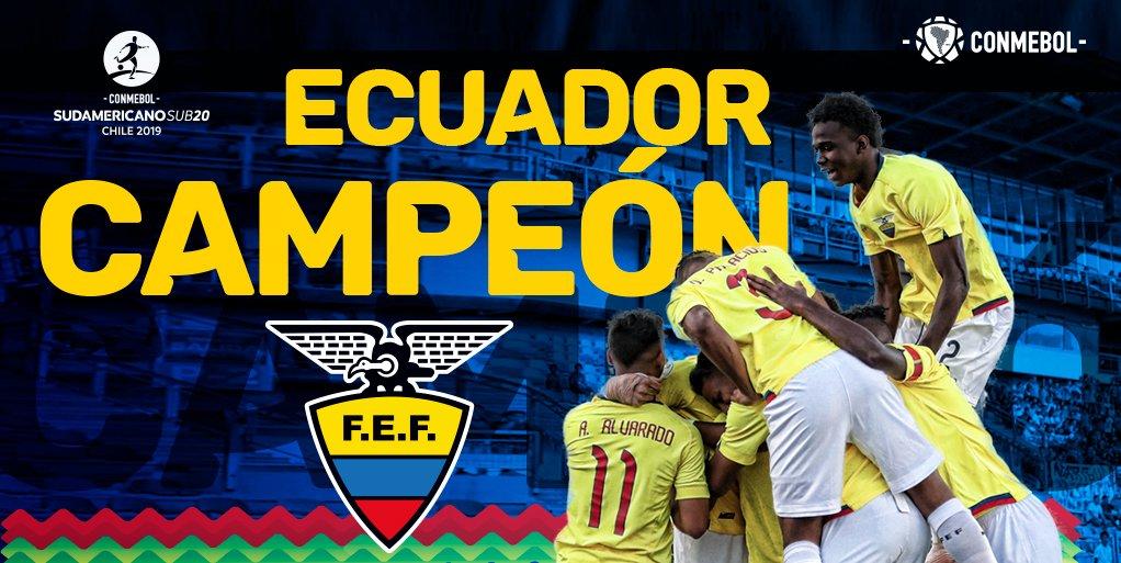 厄瓜多尔首夺南青赛冠军, 巴西首次连续两届无缘