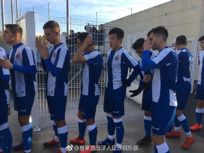 张奥凯首发登场,西班牙人青年A队2-1逆转取胜