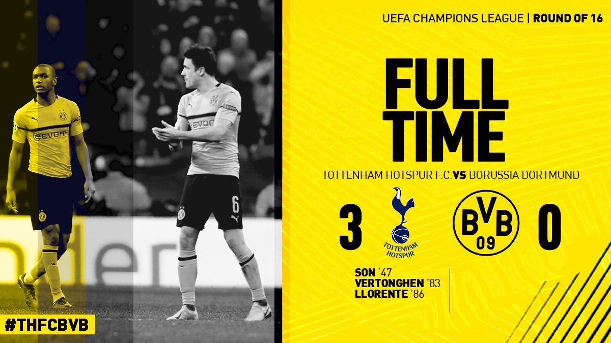 一泻千里,多特首次在欧冠淘汰赛下半场丢三球