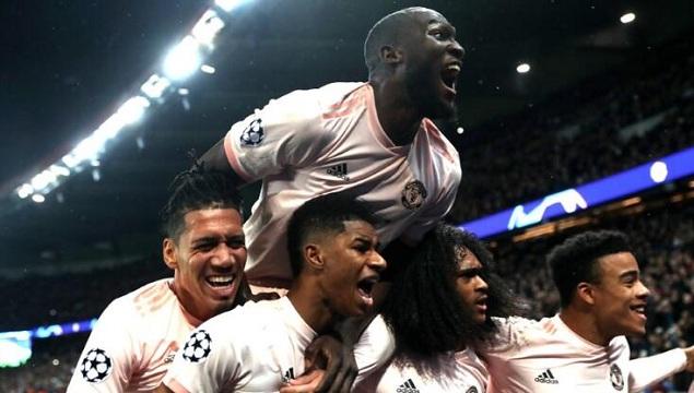 卢卡库双响拉什福德点球绝杀,曼联3-1逆转淘汰巴黎