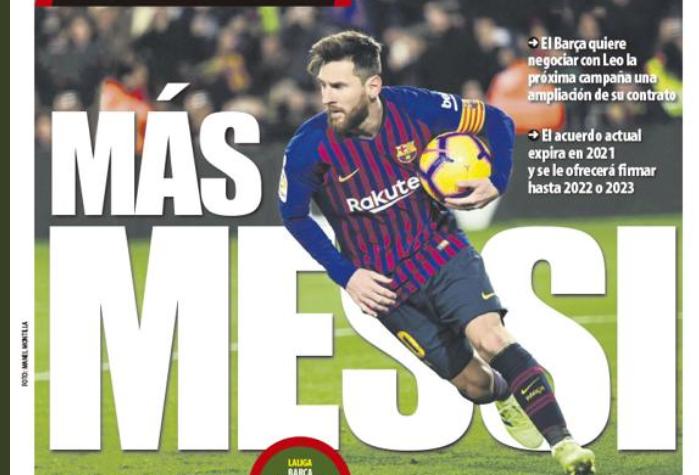 巴萨下赛季和梅西谈续约,新合同最长到2023年