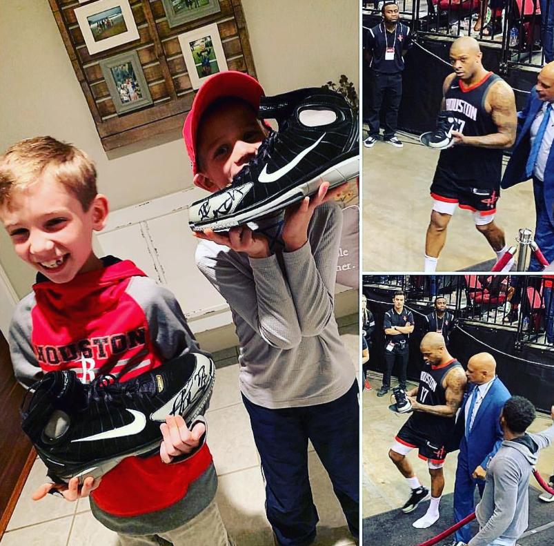塔克晒小球迷收到自己所赠球鞋后的反应:为此而战