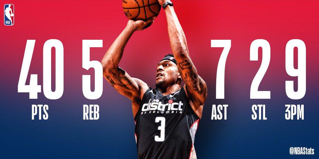 NBA官方评选今日最佳数据:比尔40+7+9三分当选