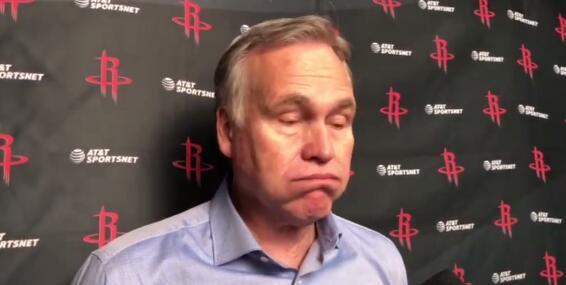 德帅:我们两节打得太软,哈登靠得分帮我们咬住比分