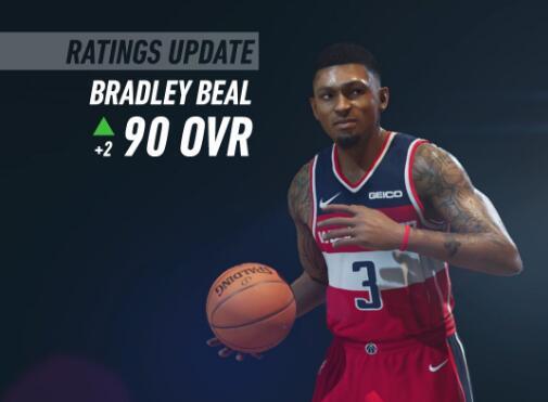 NBA LIVE 19更新球員能力值:比爾升至90,小佩頓升至80