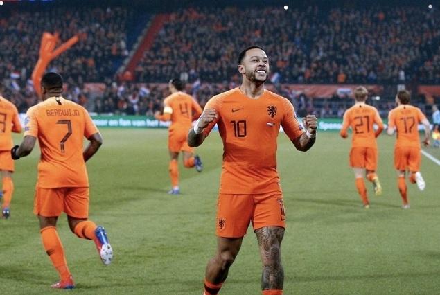 欧预赛:孟菲斯2传2射独造四球,荷兰4-0白俄罗斯