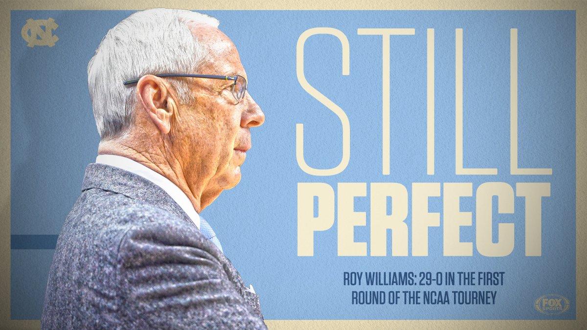 北卡大学主帅威廉姆斯在NCAA锦标赛首轮已经29胜0负