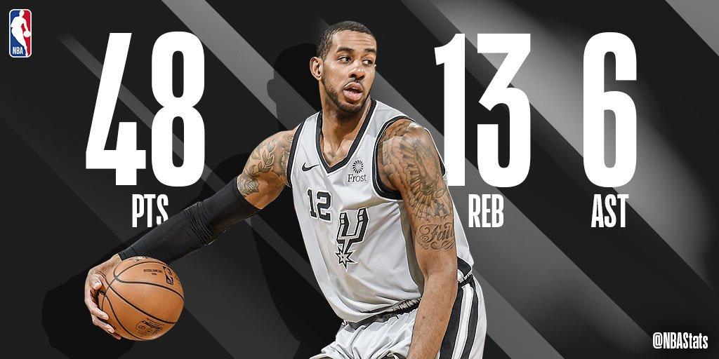 NBA官方评选今日最佳数据:阿德砍下48+13+6成功当选