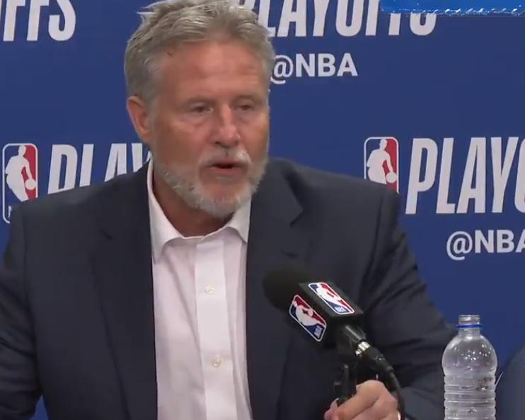 布朗:吾们在第三节的退守做得很棒,给予了对手回答