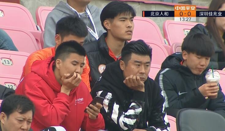 一图流:心系旧主,王刚韩鹏丰体看台观战人和比赛