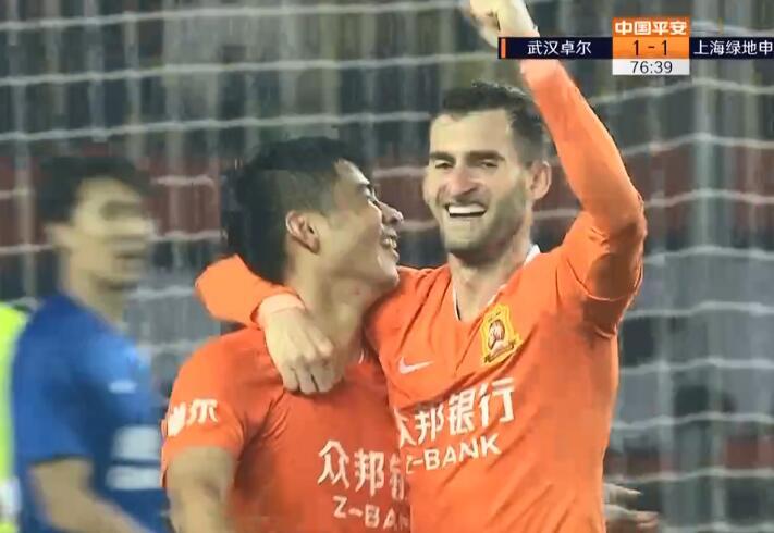 GIF:越位了!卓尔U23小将江子磊遗憾错失首球