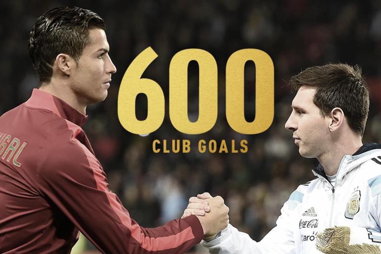 双骄PK!梅西和C罗是唯二突破600球大关的现役球员