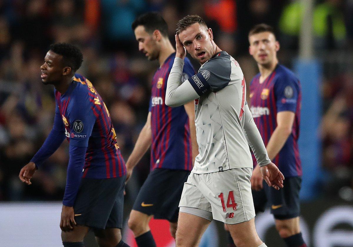 0-3不敌巴萨,利物浦平队史欧冠最惨输球纪录