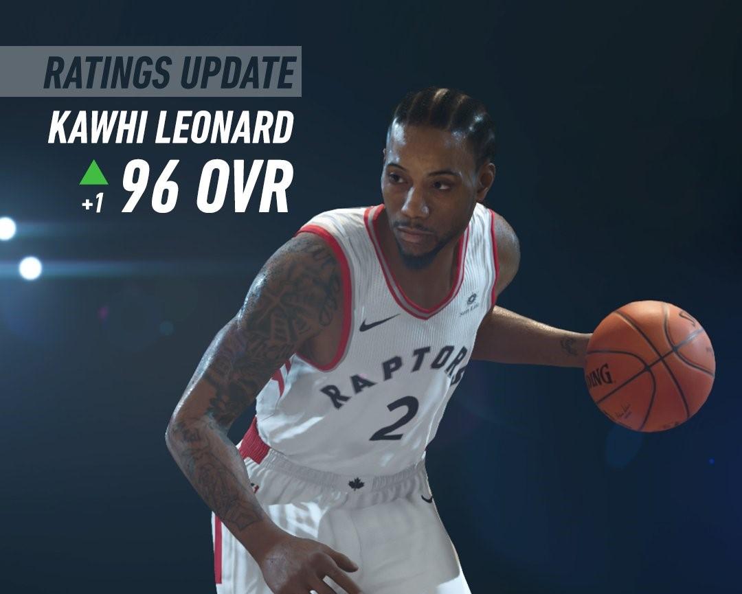 NBA LIVE19更新球员能力值:伦纳德升至96