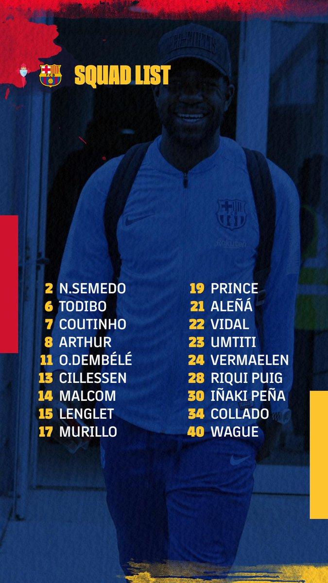 巴萨大名单:梅西领衔8名主力轮息,4名B队球员入选