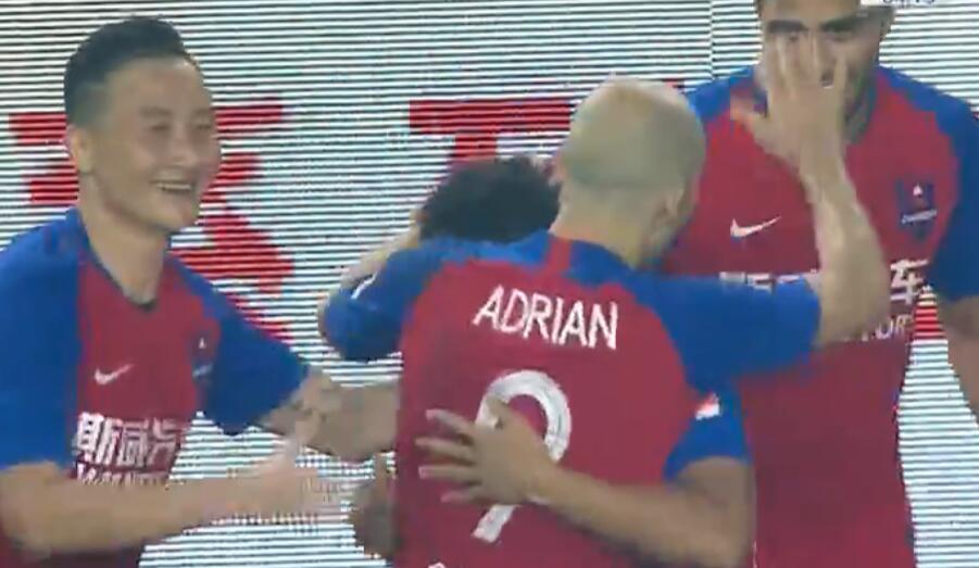 GIF:迪力穆拉提替补上场闪电进球,重庆2-0人和