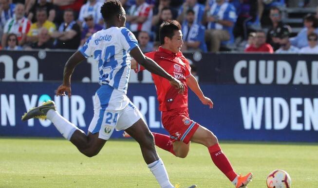 武磊制造进球伊格莱西亚斯双响,西班牙人2-0莱加内斯