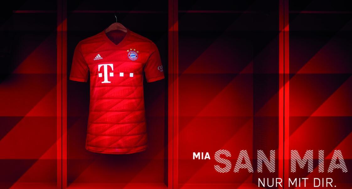 拜仁发布新赛季主场球衣:菱形斜暗纹, 灵感源于安联球场