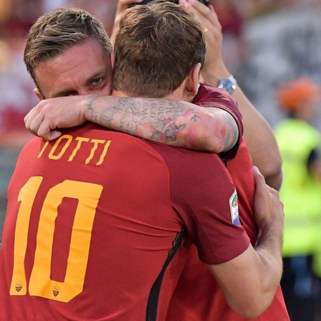 托蒂送别德罗西:罗马历史重要的一章结束了,我爱你兄弟