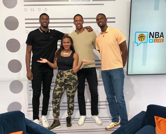 弗莱、波什以及小贾伦-杰克逊参加NBA推特直播活动