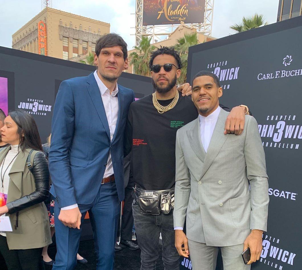 麦基与博班、哈里斯等人参加《疾速追杀3》首映礼