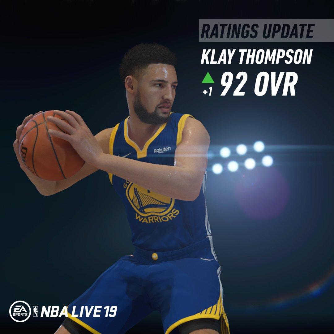 NBA Live民间更新部分球员能力值:汤普森92