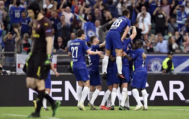欧联:阿扎尔2射1传吉鲁传射,切尔西4-1阿森纳夺冠