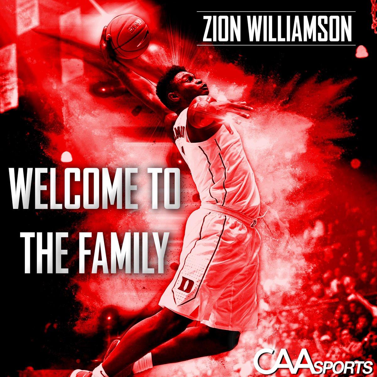 CAA体育经纪公司已与蔡恩-威廉森签约