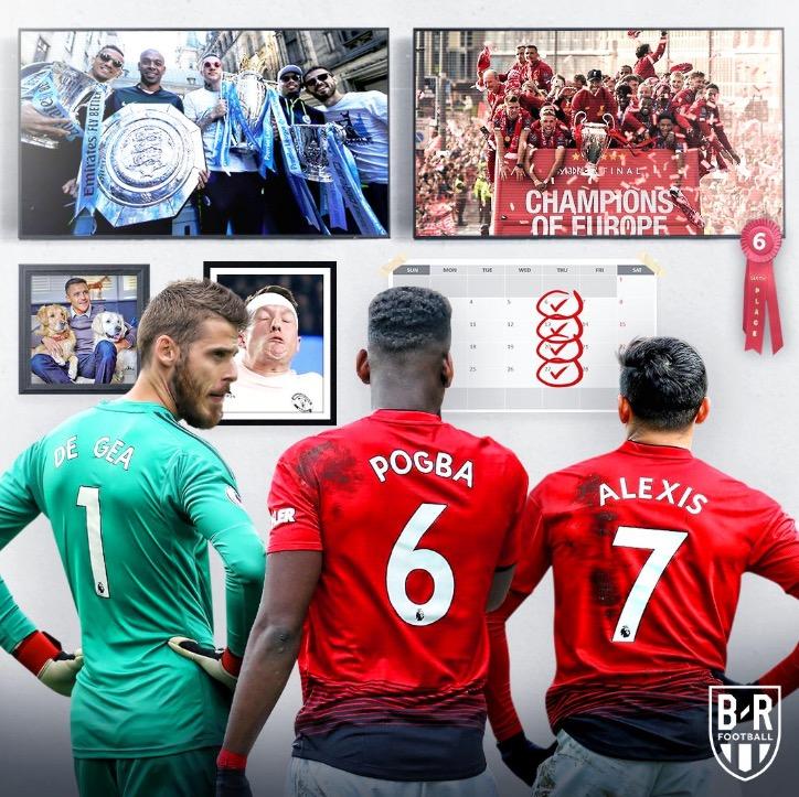 B/R调侃曼联:利物浦拿欧冠,曼城拿三冠,你第六