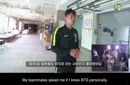 防弹少年团温布利应援孙兴慜,欧巴回应:也祝他们成功  足球话题区
