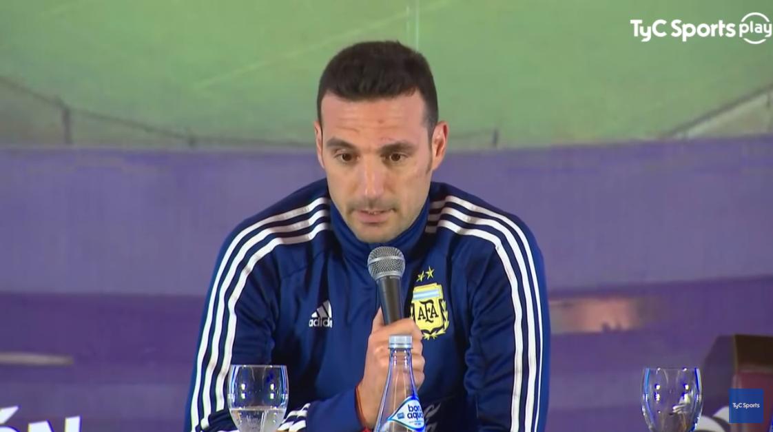 斯卡洛尼:希望梅西与洛切尔索能在比赛中找到默契