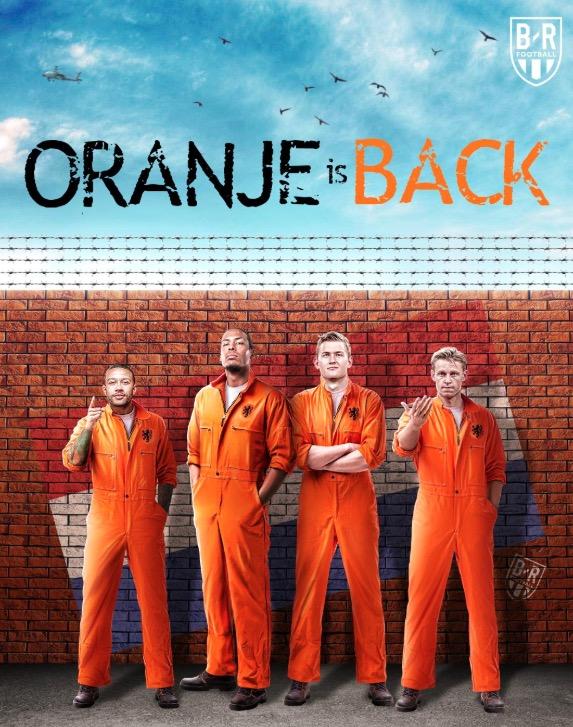 B/R海报致敬荷兰队:橙衣军团回来了