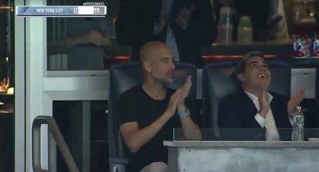 间接的留队证据?瓜帅现场观战MLS纽约城的比赛