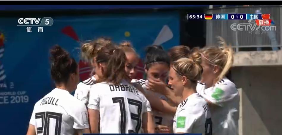 快讯:65分钟,格温远射进球,中国女足0-1德国女足