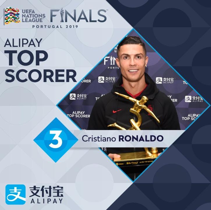 欧国联官方奖项:C罗金靴,B席最佳球员,德容最佳新秀