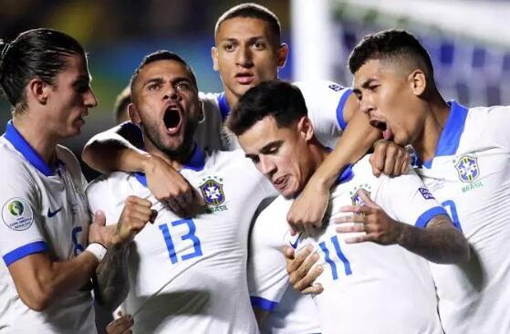 3-  0!巴西获第 100场胜利, 仅次于阿根廷乌拉圭