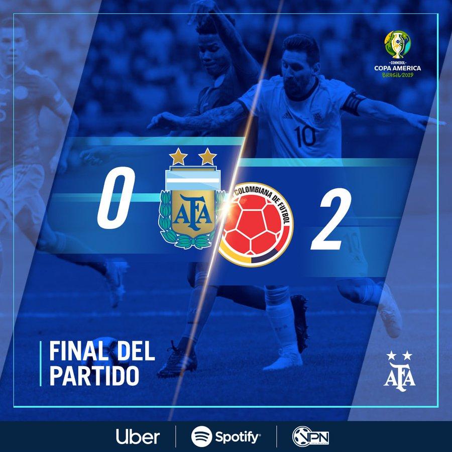 不敌哥伦比亚!阿根廷美洲杯幼组赛13场不败终局