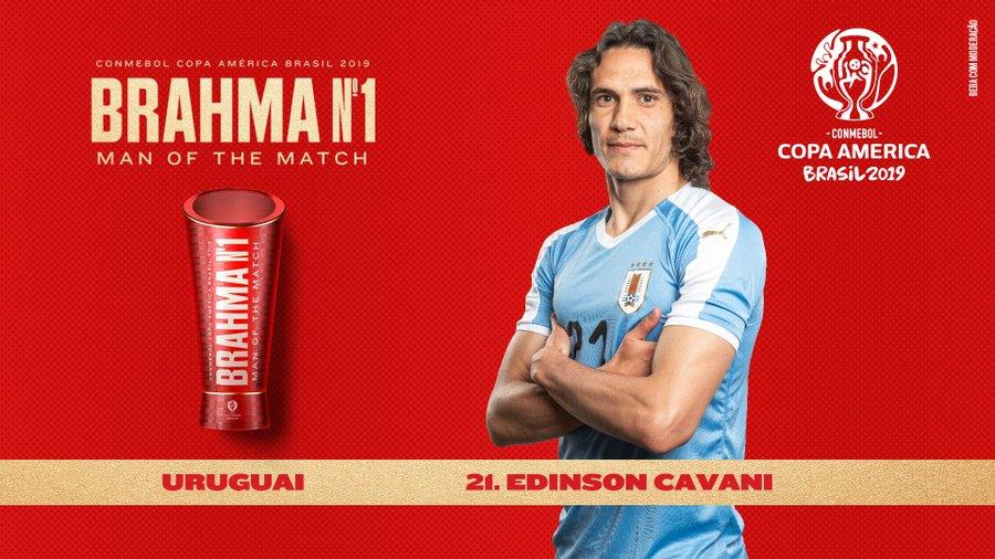 倒钩破门技惊四座,卡瓦尼获乌拉圭美洲杯始战全场最佳
