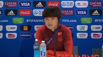 王霜:贾指导强调我们要更自信,敢于突破,敢于控球