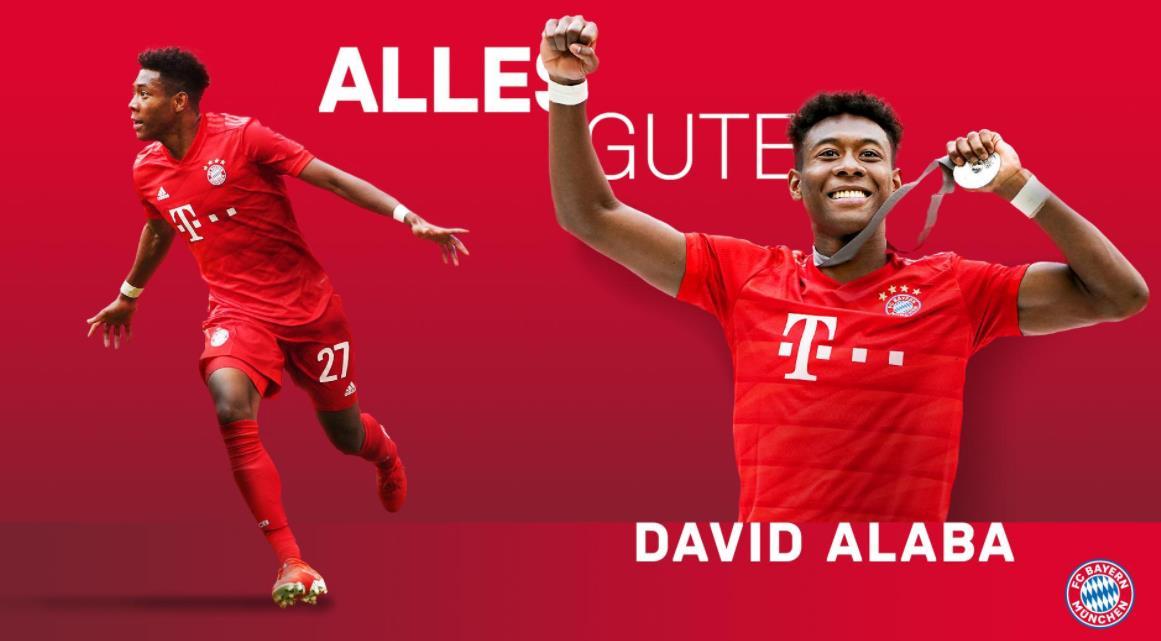 生日快乐!阿拉巴是史上唯一 27岁以下 8夺德甲的球员