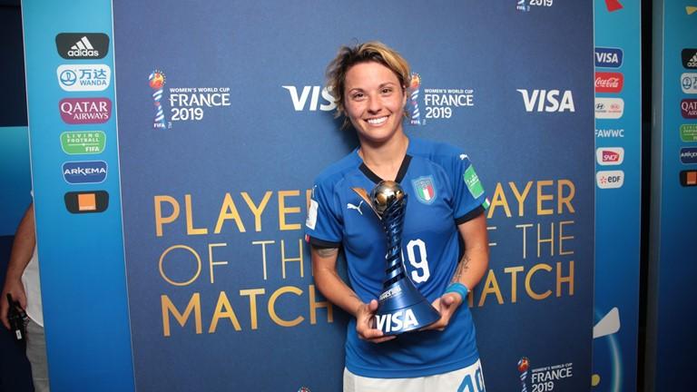 女足世界杯中意战最佳球员:意大利进球功臣吉亚琴蒂