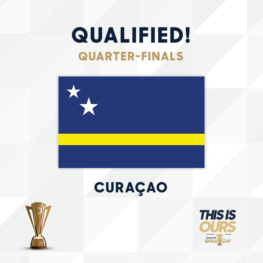 世界波绝平牙买加,库拉索首次进入金杯赛淘汰赛