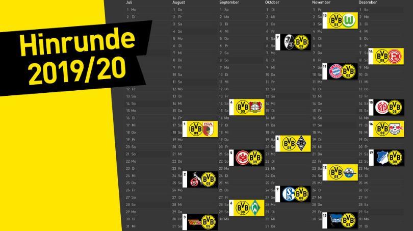 多特上半程详细赛程:第 9轮在迎来鲁尔德比